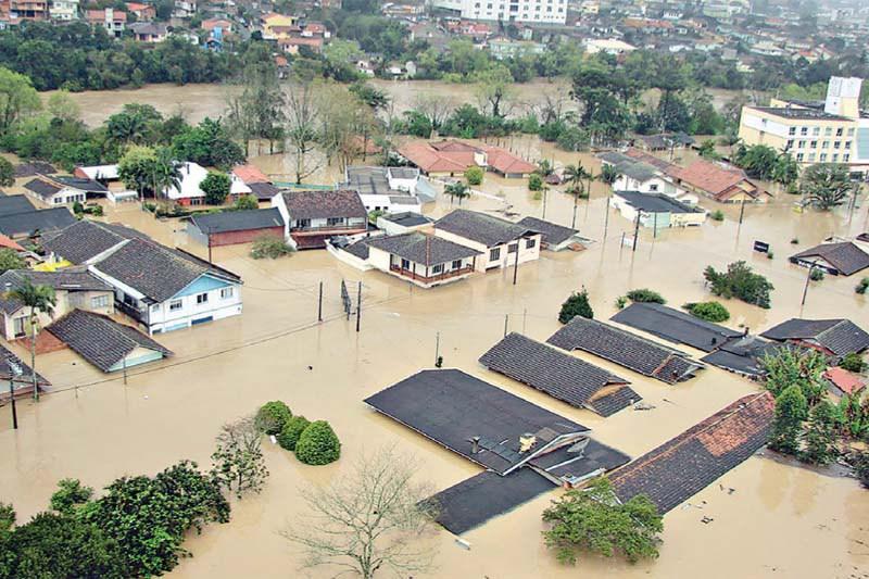 Uma enchente na vida