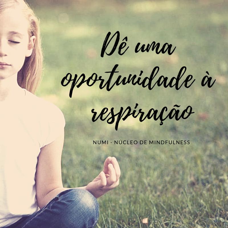 Dê uma oportunidade à respiração
